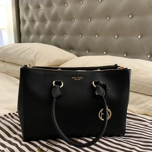 Henri Bendel black satchel bag